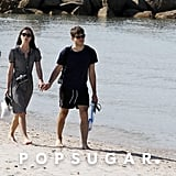Keira Knightley and James Righton strolled on the shore.