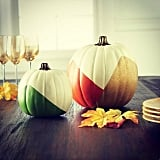 Martha Stewart would be proud of these colorblock pumpkins.