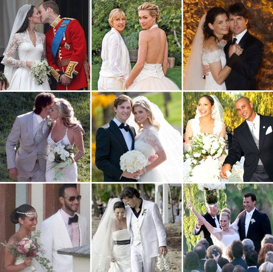From Tom and Katie to Will and Kate, Pop has put together the ultimate celebrity wedding day slideshow.