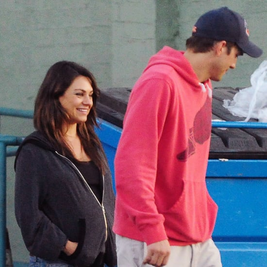 Pregnant Mila Kunis and Ashton Kutcher in LA | July 2014