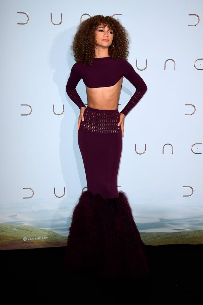 Zendaya's Alaïa Skirt Set at the 2021 Venice Film Festival