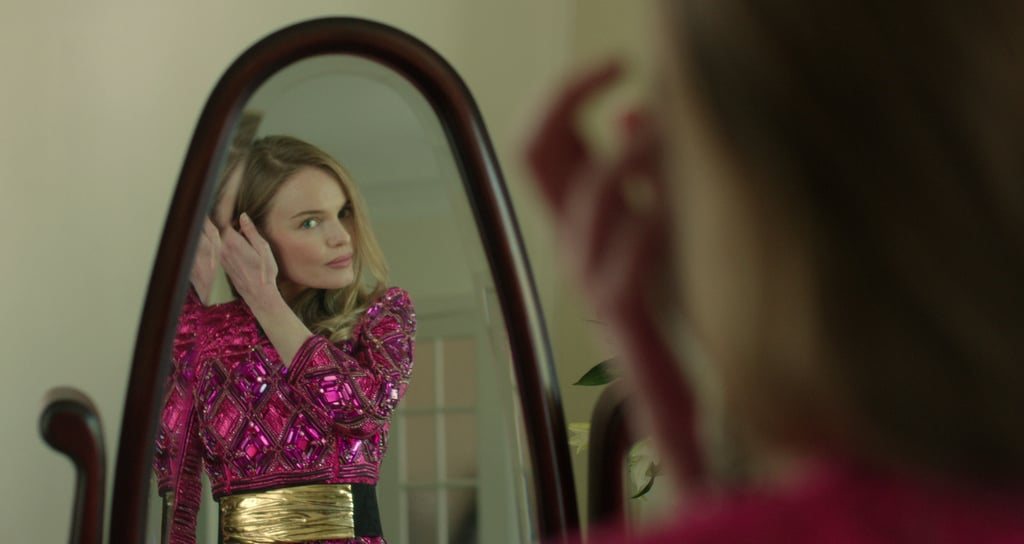 Kate Bosworth preparing for the 2013 Met Gala in a Balmain dress in Getting Ready For The MET on vogue.com. Source: Vogue.com