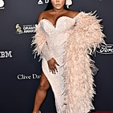 Lil' Kim at Clive Davis's 2020 Pre-Grammy Gala in LA