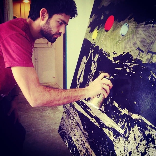 Adrian Grenier got in touch with his inner artist. Source: Instagram user adriangrenier