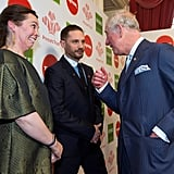 With Olivia Colman and Prince Charles at The Prince's Trust Awards in 2018.