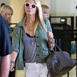 Gwyneth Paltrow wore white sunglasses.