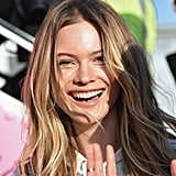 POPSUGAR: What is your favorite Victoria's Secret Fashion Show memory? Behati Prinsloo: Definitely my first show in 2007. The Spice Girls performed, and I am a very big fan. So, that was a big highlight. PS: Perhaps they'll make a cameo this year. We are going to London. BP: Exactly! Maybe they'll surprise us. Also, when I wore those huge, white, iconic wings last year. It was a big moment. PS: What are you most excited about for this year's show? BP: This year was a really exciting year for me. I am opening the show for the first time. So I'm very nervous — but very excited! I am superstoked about it. PS: What goes through your head right before you go on the runway? BP: You're having fun with your girls, and everyone's there. But the minute I walk out, it's blank and in slow motion. There's nothing specific that goes through my mind. I just take in the moment. Your adrenaline rush is so much because your excitement and nerves just get the better of you.  PS: Over Thanksgiving, you posted a selfie on Instagram stating you're thankful for so much in your life. What are some of the things you're most thankful for? BP: There's so much — my health, my family, my friends, my job. I just feel so lucky and blessed. There are a million things I'm thankful for.  PS: Like pink blankets?! BP: Pink blankets, earplugs . . .[laughs].