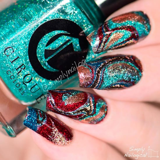 Water Marble Nails Without Water