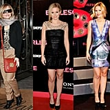 We couldn't help but notice that Kristen Bell's been working the red carpet while promoting Burlesque.