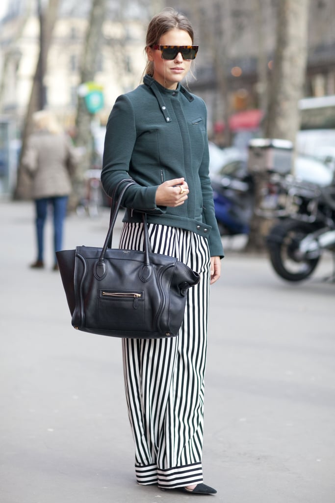 The striped pants, the Celine bag — we love it all.