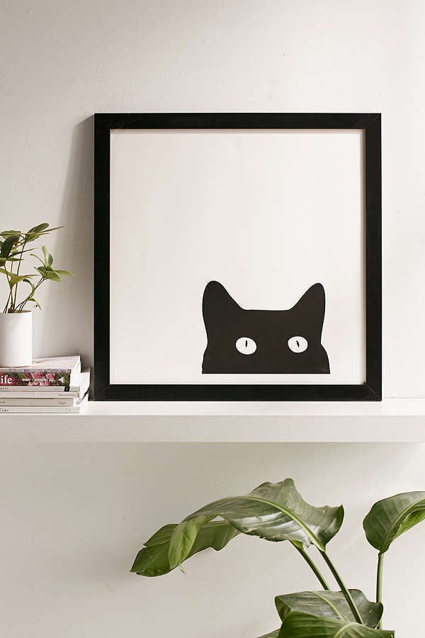 Urban Outfitters Shannon Lee Black Cat Art Print