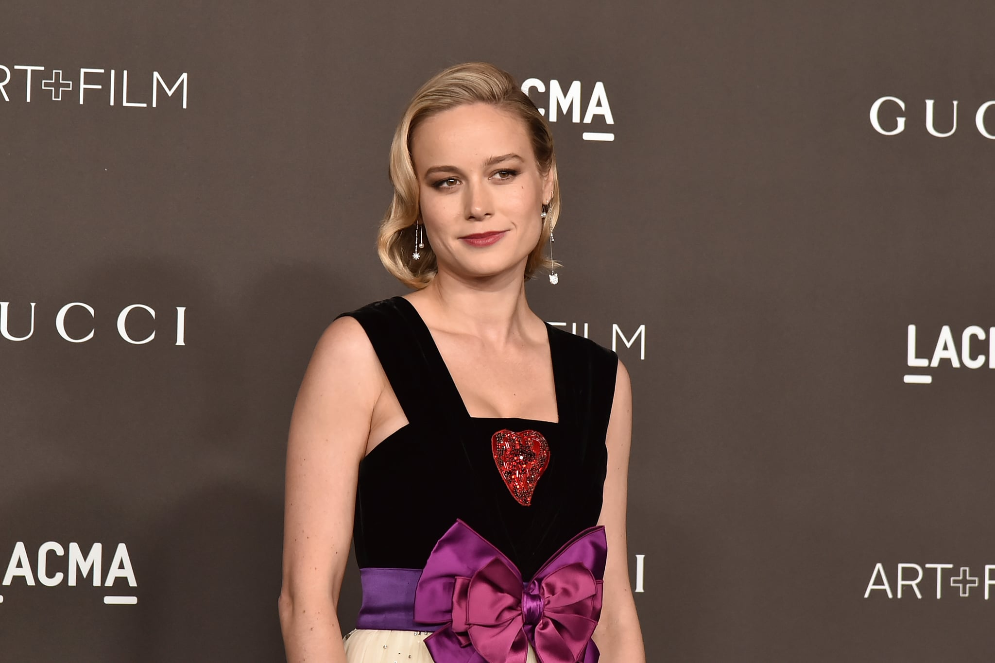 LOS ANGELES, CALIFORNIA - NOVEMBER 02: Brie Larson attends the 2019 LACMA Art + Film Gala  at LACMA on November 02, 2019 in Los Angeles, California. (Photo by David Crotty/Patrick McMullan via Getty Images)