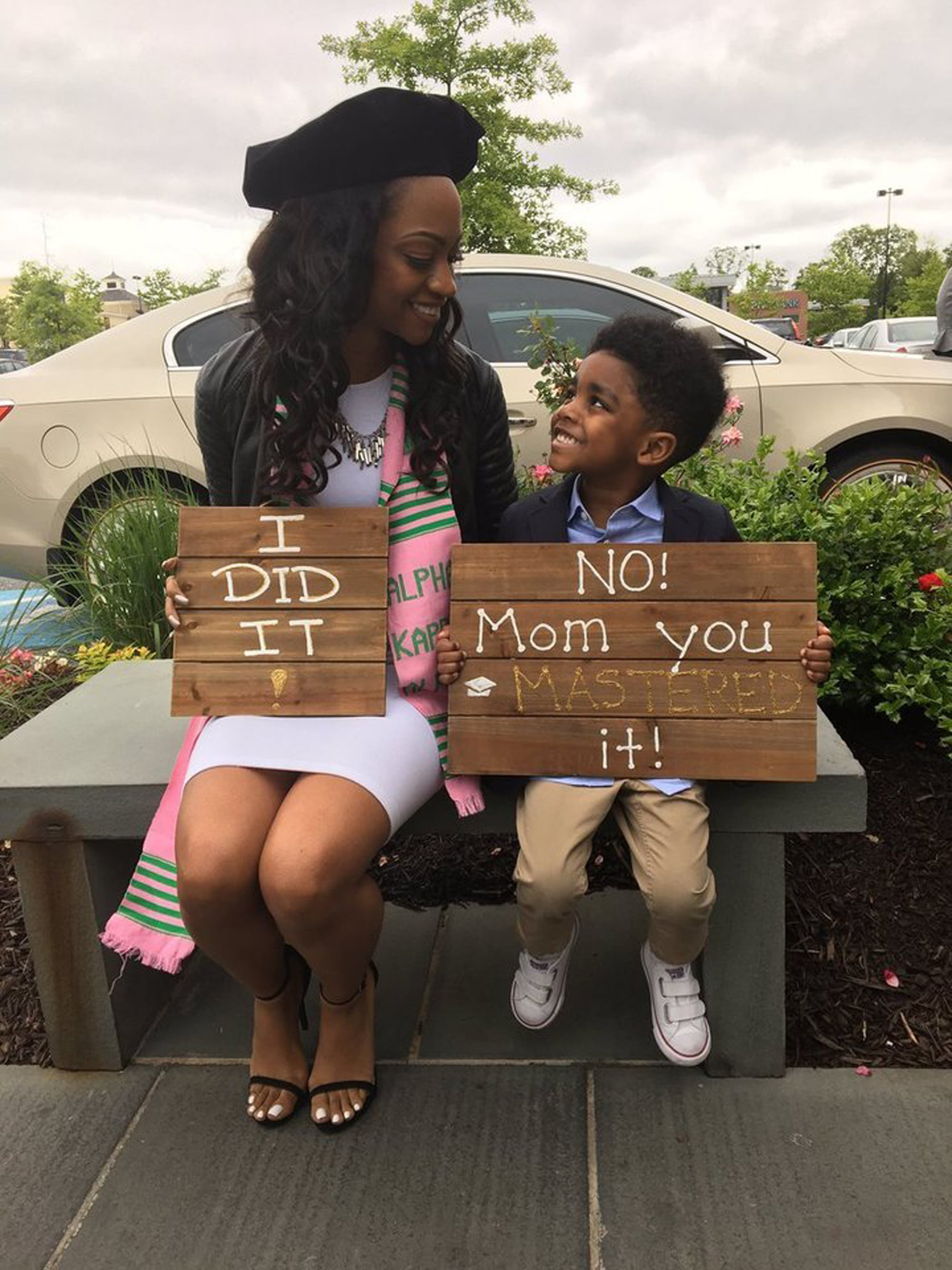 Mom And Son Graduation Sign Photo Popsugar Family