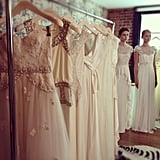 A close-up of the Temperley Bridal collection.