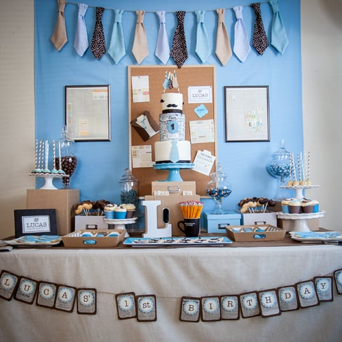 Office First Birthday Ideas With Mustaches And Ties