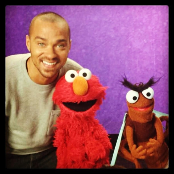 Jesse Williams made an adorable appearance on Sesame Street. Source: Instagram user ijessewilliams