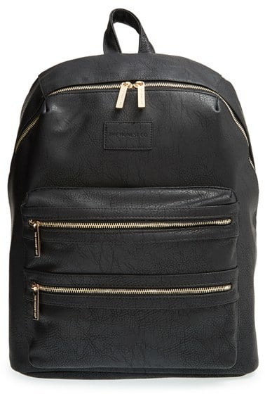 The Honest Company Infant Girl's 'City' Faux Leather Diaper Backpack