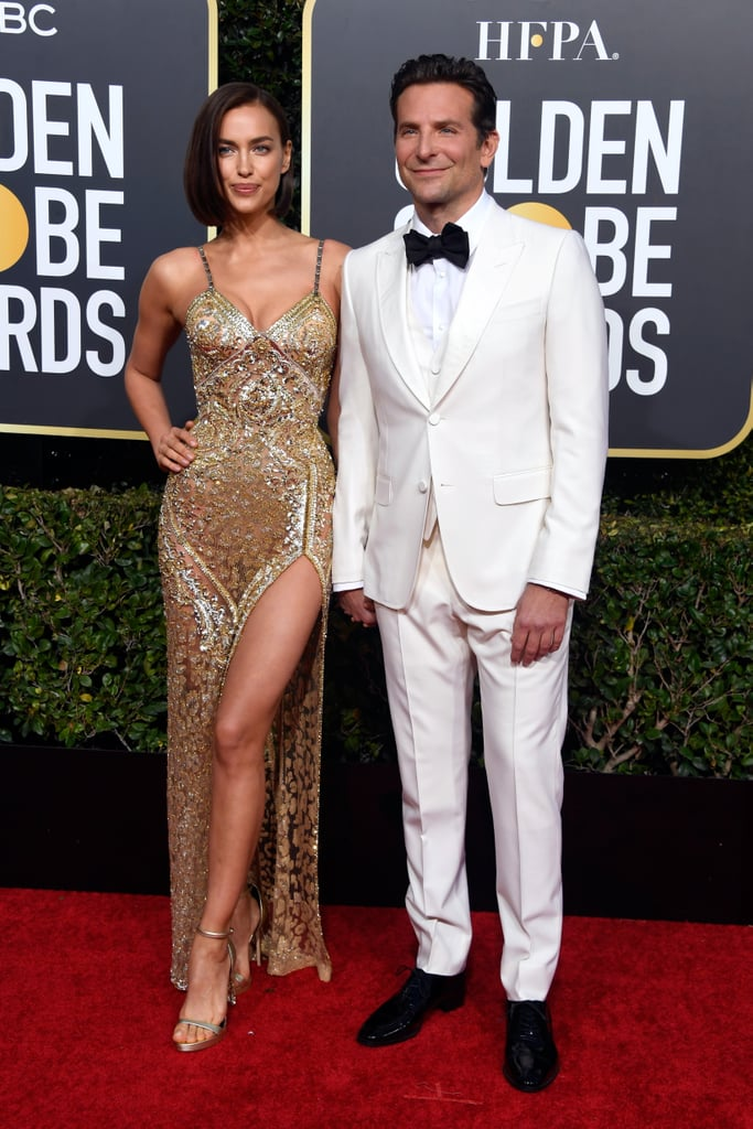 Irina Shayk and Bradley Cooper at the 2019 Golden Globes