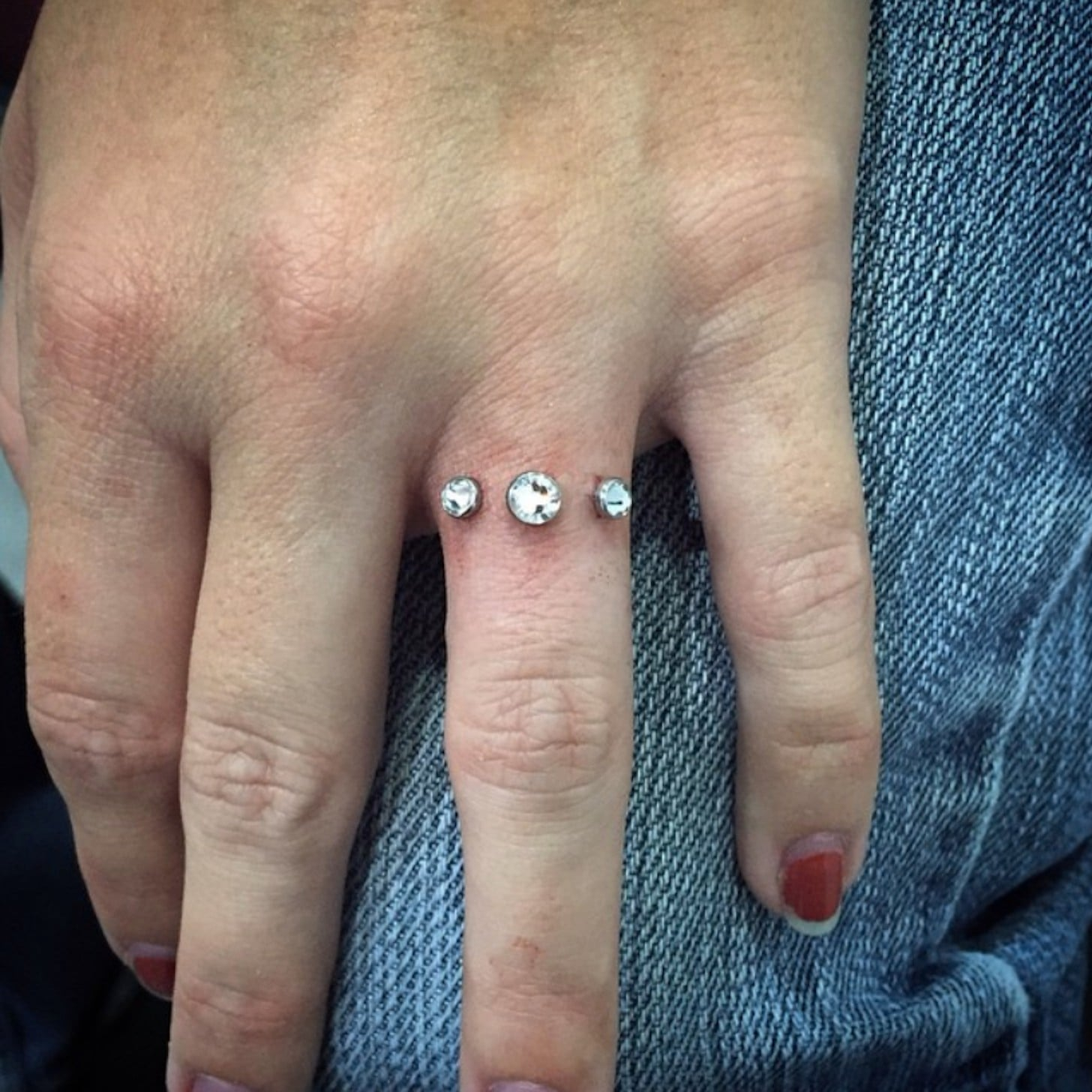 popsugar nurse fashion engagement piercing rings ring trend