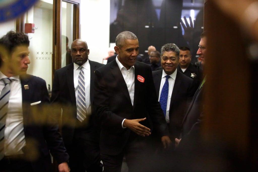 Barack Obama Going to Jury Duty November 2017