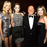 Karolina Kurkova and Cody Horn, both in Michael Kors, with the designer and Nina Garcia at Vera Wang's Lifetime Achievement Award Celebration in New York. Photo: Benjamin LozovskyBFAnyc.com