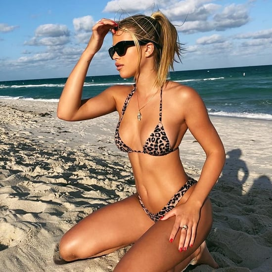 Sofia Richie Wears a Leopard Bikini to the Beach in Miami