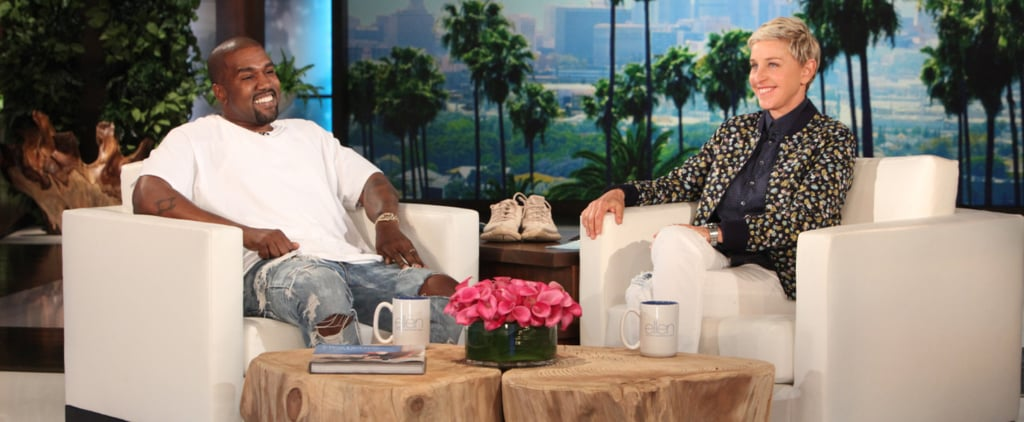 Ellen DeGeneres Looks Incredibly Nervous While Kanye West Rants on Her Show
