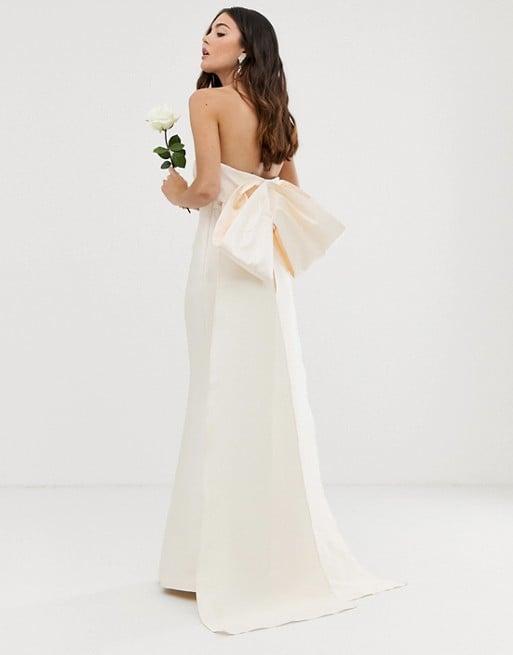 Asos Edition Bow Back Bandeau Wedding Dress