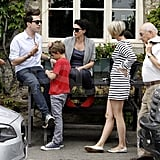Sadie Frost with Nick Grimshaw and sons Raffety and Rudy.