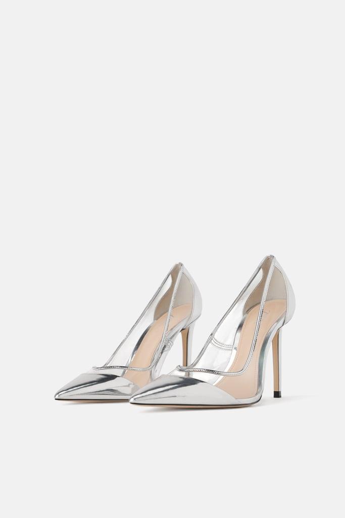 Zara Vinyl High-Heel Shoes