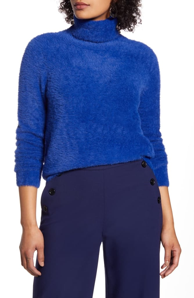 Halogen Fuzzy Turtleneck Pullover