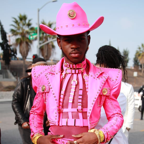 Lil Nas X's Pink Versace Cowboy Outfit at the Grammys 2020