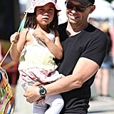 Jon Cryer spent his Sunday at an LA farmers market with his family.