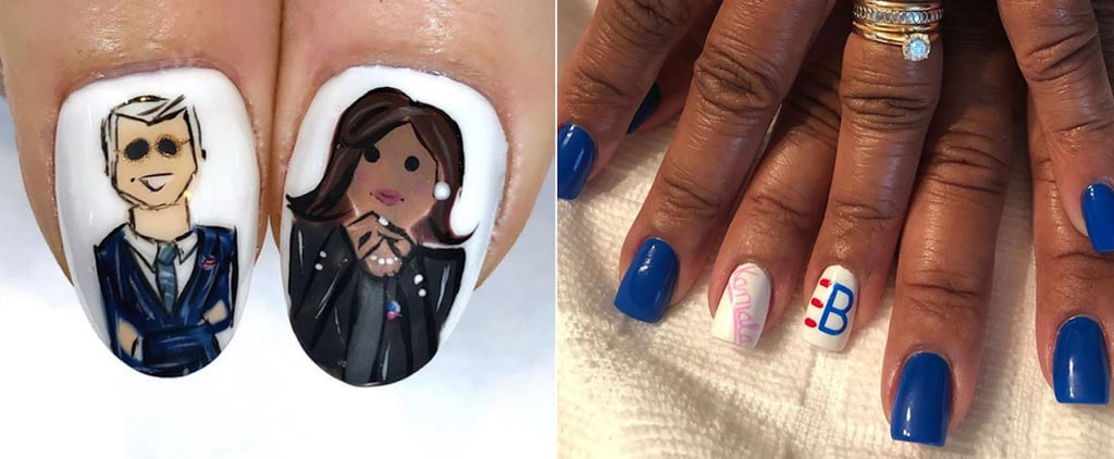 Joe Biden and Kamala Harris Election Nail Art
