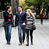 Michael Bublé and Luisana Lopilato in Buenos Aires with a friend.