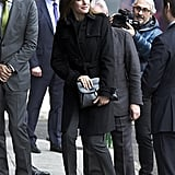 Letizia in Hugo Boss, January 2018