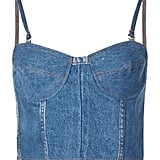 Re/Done Reconstructed Denim Bustier
