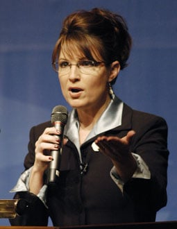 Photo of Sarah Palin, the Presumptive Vice Presidential Nominee For Republican Party