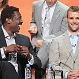 Eamonn Walker and Jesse Spencer joked with each other onstage.