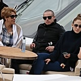 Jennifer Lopez, Casper Smart, and Guadalupe Lopez relaxed on a yacht over the weekend.