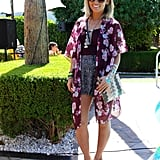 Floral prints abound in this lovely look, which included an American Eagle kimono, Sam Edelman sandals, and a Punchcase bag.