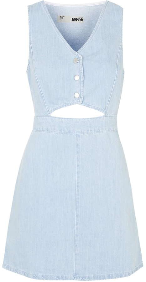Topshop Moto cut-out denim dress ($70)