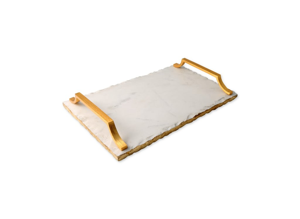Thirstystone Old Hollywood Marble Serving Tray With Gold-Tone Handles