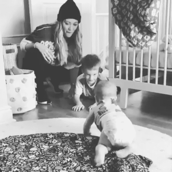 Hilary Duff's Video of Banks Violet Crawling