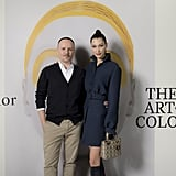 On Wednesday at the Art of Color Exhibit with Dior's Peter Philips
