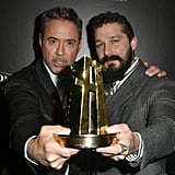 Robert Downey Jr. and Shia LaBeouf at the 23rd Annual Hollywood Film Awards