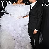 Winnie Harlow and Zac Posen at the Harper's Bazaar ICONS Party