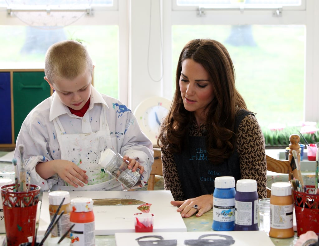 Kate Middleton observed the Art Room charity in action.
