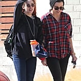 Kristen Stewart and her friend, Alicia Cargile, walked around LA before Kristen caught a flight on Tuesday.