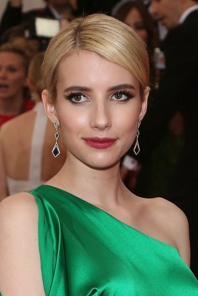 Emma Roberts Celebrity Hair And Makeup At Met Gala 2015 Popsugar